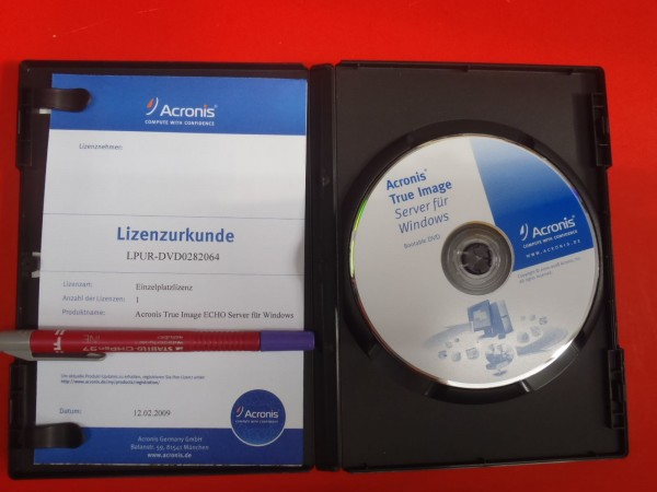 Acronis True Image Echo für Windows Server DVD m. Lizenz Software backup